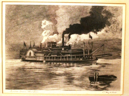 61a etching of steamer